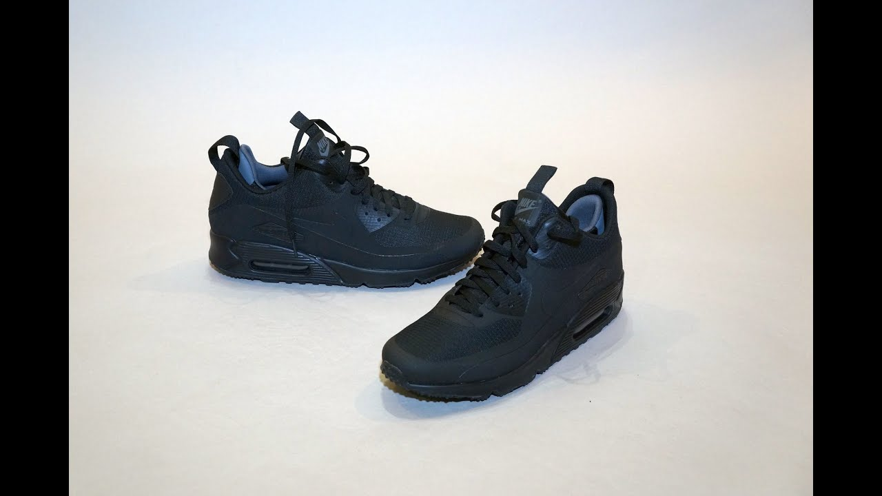 3628571cbc86 Nike Air Max 90 Mid Winter Black On feet - YouTube