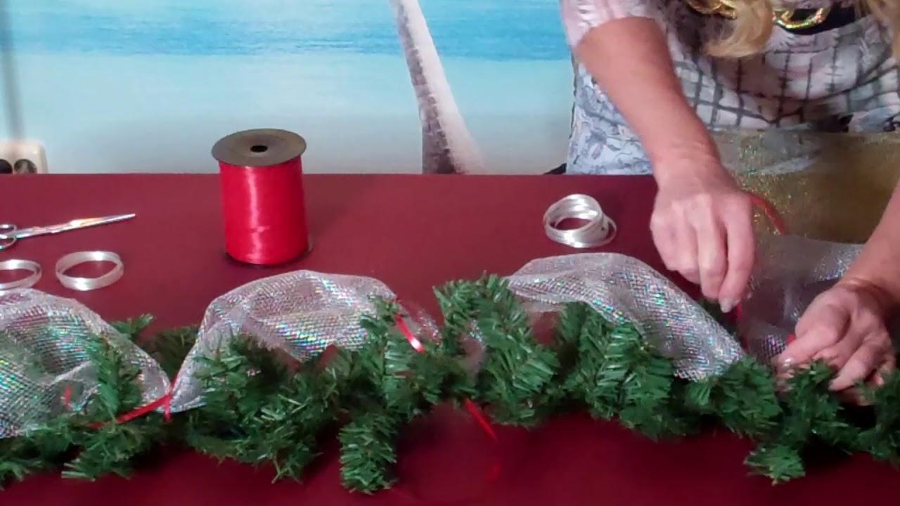 weihnachts tannen girlande selber schm cken lilo siegel youtube. Black Bedroom Furniture Sets. Home Design Ideas