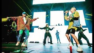 Chris Brown & Bad Bunny dancing to