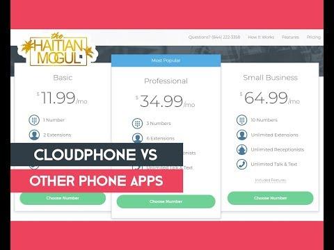 CloudPhone Vs Google Voice, Sideline, 2nd Line, Etc. (VERY INFORMATIONAL!!)