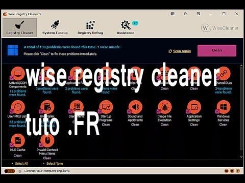 Wise Registry Cleaner 9/ Windows/ tuto FR
