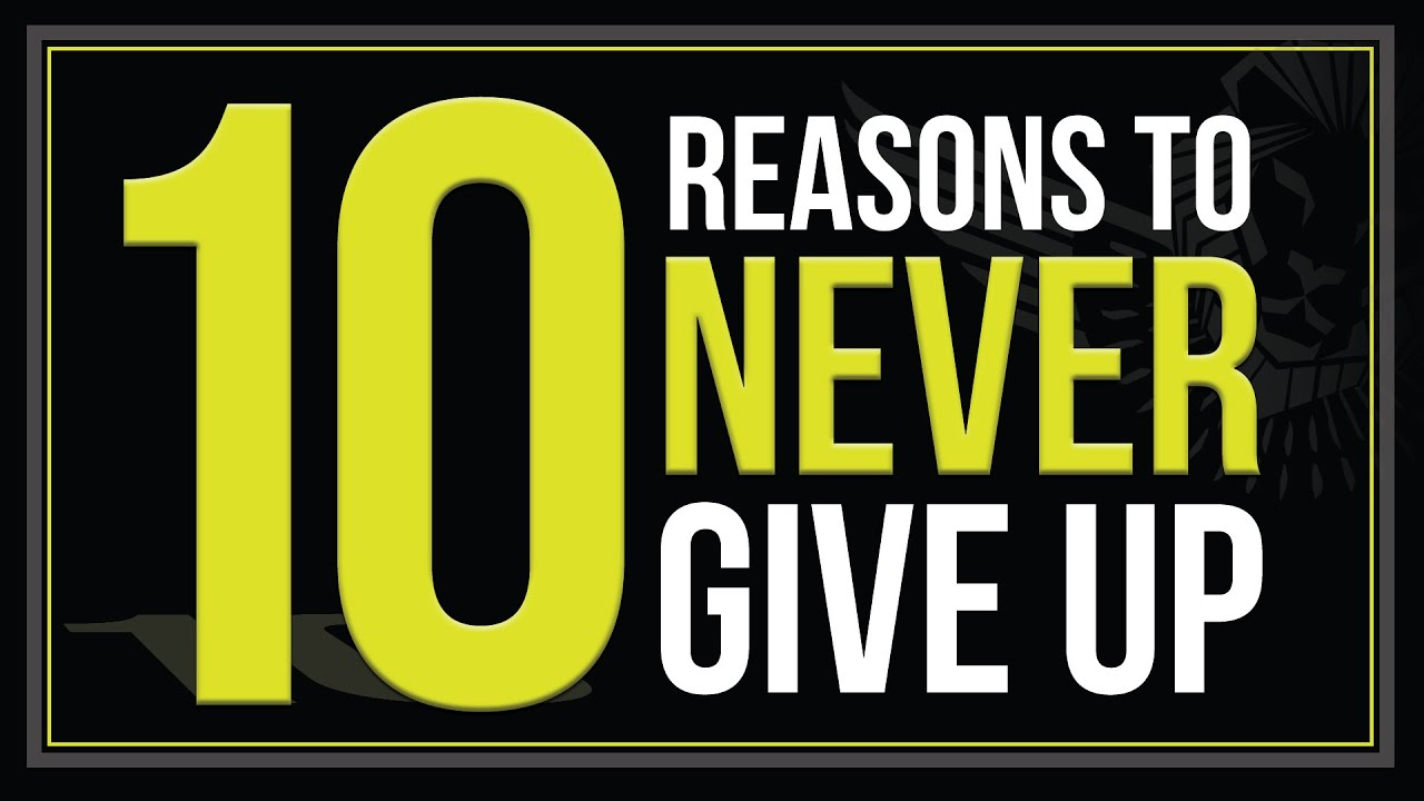 Never never give up reasons and