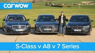Mercedes S-Class vs Audi A8 vs BMW 7 Series review - which is the best? | carwow Reviews