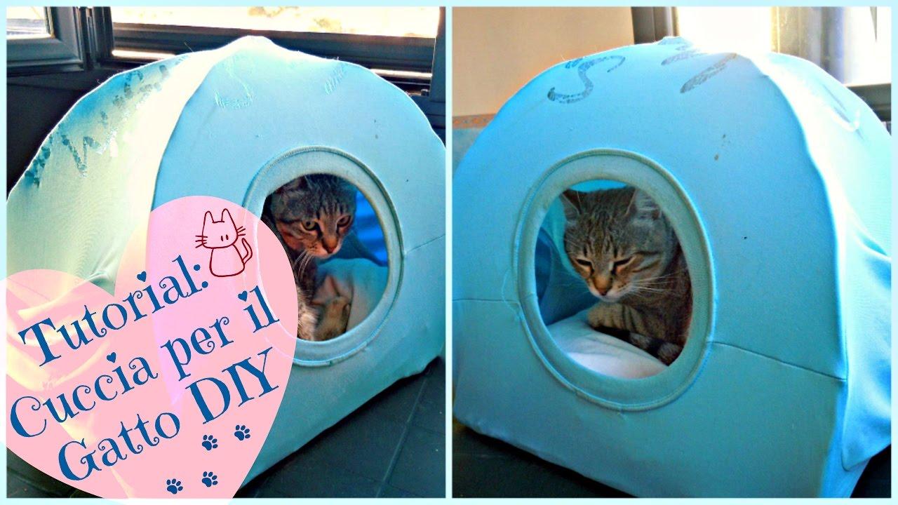 Tutorial cuccia per il gatto diy youtube for Interno per cuscini