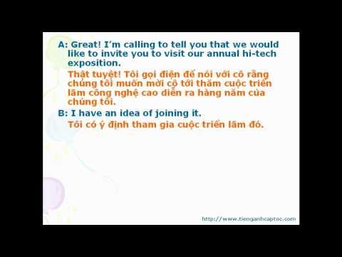 Tiếng Anh triển lãm, hội nghị bài 1-1