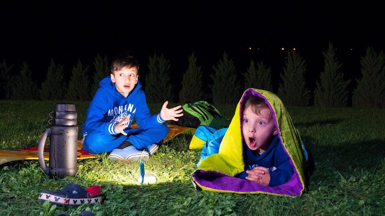 НОЧЬЮ Дети Одни УСТРОИЛИ Пикник На Улице!