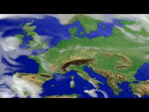 Cloud forecast Europe 2018-04-17
