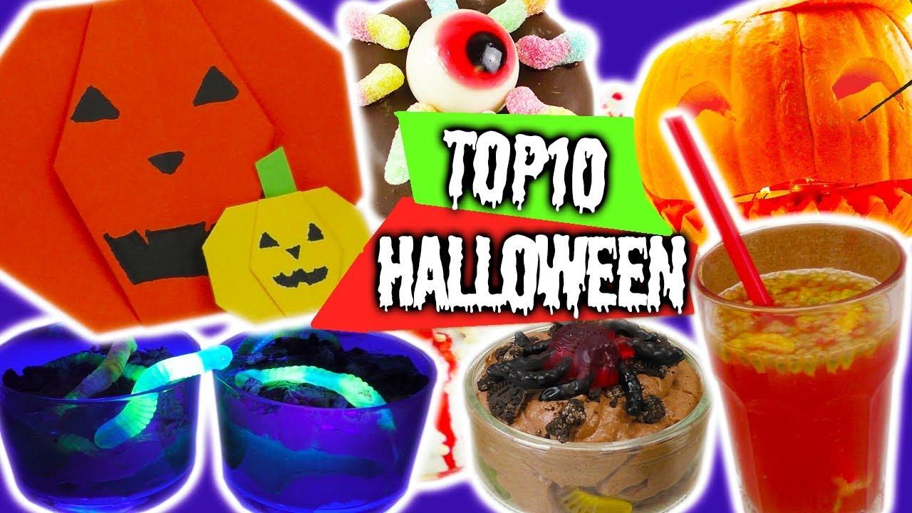 TOP 10 Halloween Ideen | Origami Kürbis | Zombie Donuts | Halloween ...