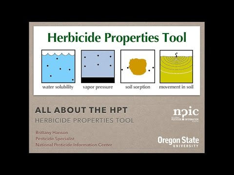 All About the HPT - Herbicide Properties Tool