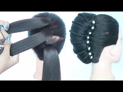 new-trick-for-french-bun-hairstyle-||-wedding-guest-hairstyle-||-hairstyle-for-women-||-hairstyle