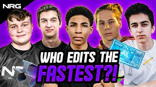 Who has the FASTEST EDITS on the NRG Fortnite Squad? | Benjyfishy, Unknown, EpikWhale, Zayt, Edgeyy