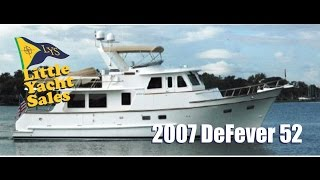 SOLD!!! 2007 DeFever 52 Trawler Yacht For sale at Little Yacht Sales, Kemah Texas
