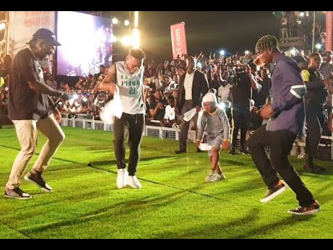 Download Dancing Competition! Watch How This Small Boy Won Burna Boy, Poco lee, Zlatan With His Leg Work