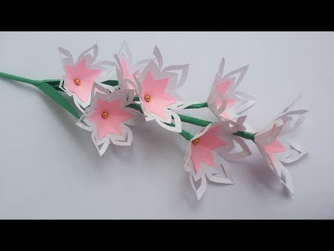 DIY: Paper Flower Stick!!! How to Make Beautiful Paper Flower Stick for Home/Room Decoration!!!