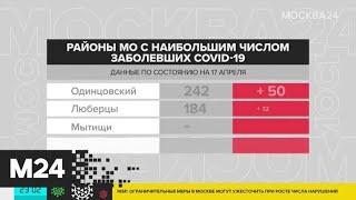 В Подмосковье за сутки выявлено 472 случая заражения COVID-19 - Москва 24