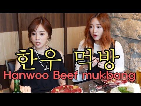 에리나[ 한우 먹방 with 제리언니 ]Trying out  Hanwoo Beef with jerry