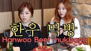 에리나[ 한우 먹방 with 제리언니 ]Trying out  Hanwoo Beef with jerry