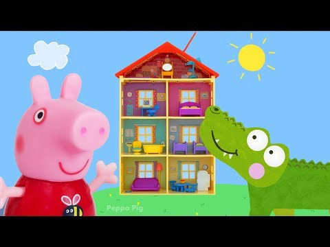 Peppa Pig Toy Collection | Crocodile Hiding in Peppa Pig Playset, PJ Masks, Paw Patrol Toys and More