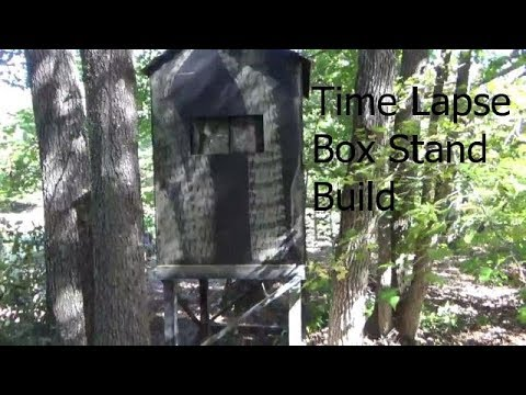 How To Build A DEER BOX STAND  2019/box Stand Made Simple/ Cheapest Way To Build A Box Stand