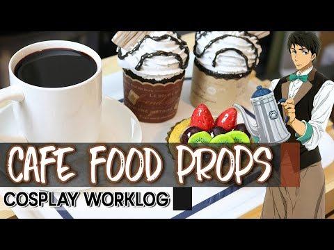 Cosplay Worklog // Cafe Sousuke Food Props : Coffee, Fruit Tart, Cupcakes [Free! Eternal Summer]