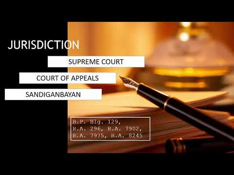 Jurisdiction | Supreme Court, Court of Appeals, and Sandiganbayan