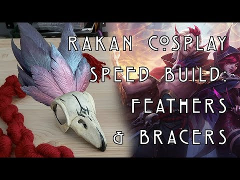 Rakan Cosplay Speed Build: Feathers & Bracers