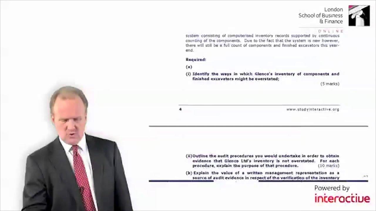 LSBF ACCA: F8 Mock Debrief with Paul Merison