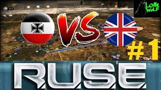 R U S E  Einzelspieler Germany vs Grossbritanien Gameplay Deutsch # 1