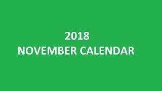 November 2018 Calendar Printable, Templates, Holidays, Blank, PDF