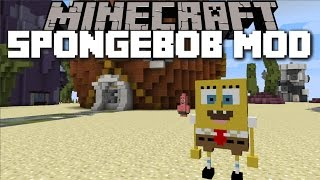 Minecraft SPONGEBOB SQUAREPANTS MOD / PLAY WITH PATRICK AND SQUIDWARD AND FIGHT PLANKTON!! Minecraft