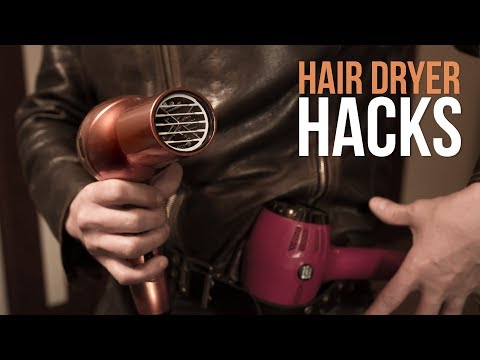 5 Pro Hair Dryer Life Hacks