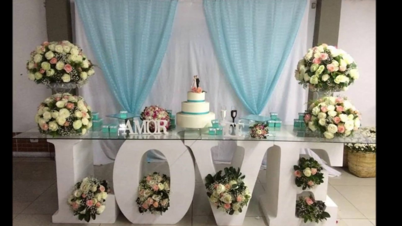 Decoracao Yotube ~ Decoraç u00e3o de casamento YouTube