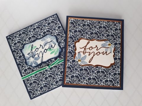 Stampwithpeg : Covered Note Pad - Craft Fair - Floral Boutique 'For You'