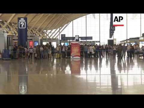 Raw: Small Explosion at Shanghai Airport