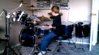 """Jace drumming 4 """"Hot for Teacher"""" age 7"""