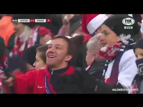 GOLEADA NO ALEMÃO! O RB Leipzig não perdoou o Mainz em casa na Bundesliga