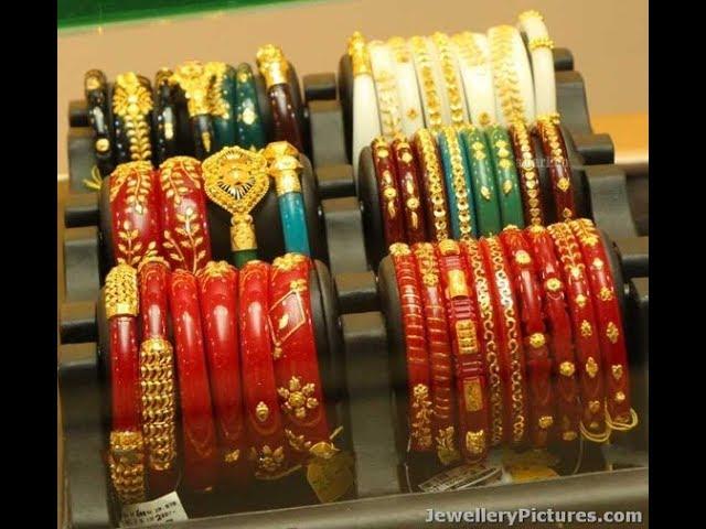 Latest Bengali Gold Shakha Pola Jewellery Designs/Bangle Designs