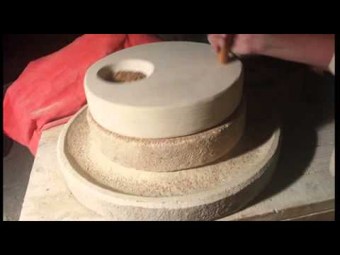 Hand Carved Stone Grain Mill Youtube
