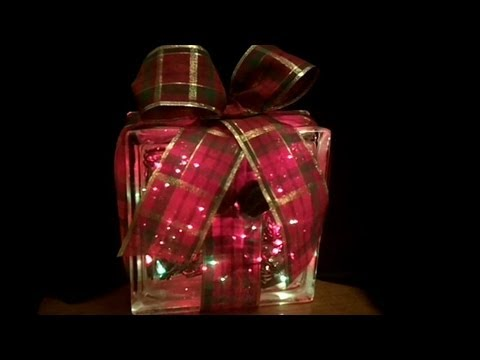 holiday lighted gift box