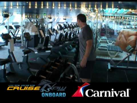 Carnival Cruise Lines Onboard Fitness And Spa Youtube