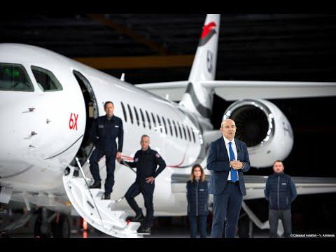 Falcon 6X rollout - Dassault Aviation