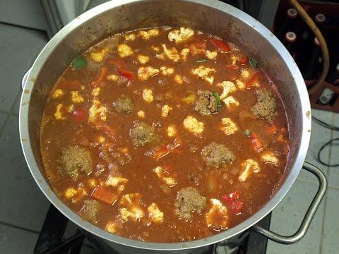 Kochen f r 30 personen hackfleischb llchen in gem se for Kochen 10 personen