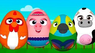 ¡Huevos Sorpresa De Animales! Bartolito, Pancha, Vaca Lola Y Lorito Pepe   La Granja De Zenón