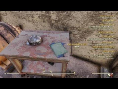 Fallout 76 Plan Light Metal Leg Youtube