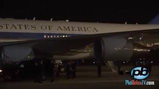Phi cơ Air Force One và Tổng thống Obama đến phi trường Nội Bài