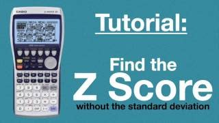 [Tutorial] Finding Z Sc๐re without Standard Deviation