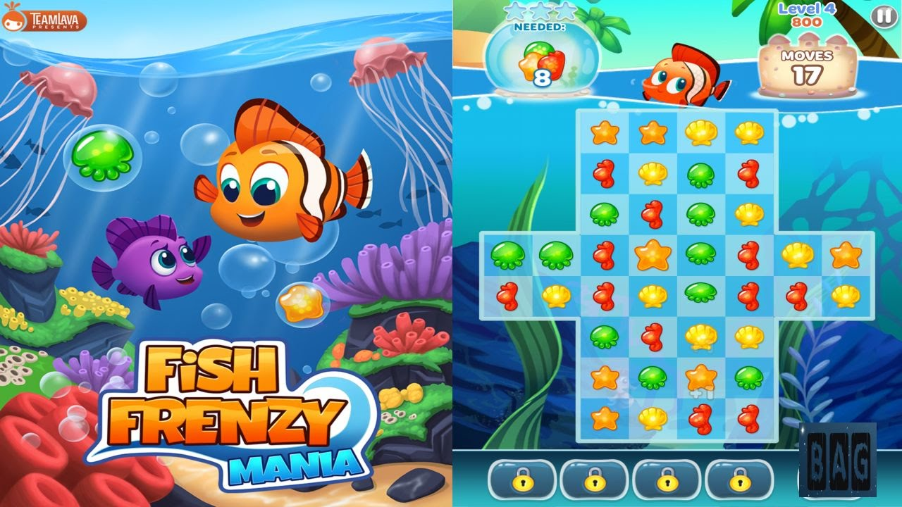 Fish frenzy mania hd gameplay youtube for Fish mania game