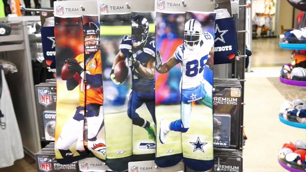 For Bare Feet NFL Sublimated Player Socks Fanzz - YouTube