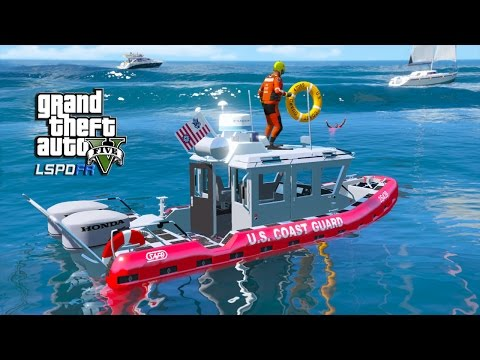 GTA 5 LSPDFR RIDE ALONG USCG - DAY 35 - VESSEL IN DISTRESS C