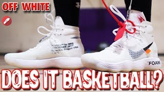 Mimar Goteo vida  Does It Basketball? Nike Off-White Flyknit Hyperdunk! - YouTube